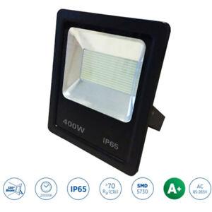 Noir Projecteur LED IP65 Léger Sécurité Extérieur Jardin 400W Vif Lumen 6500K