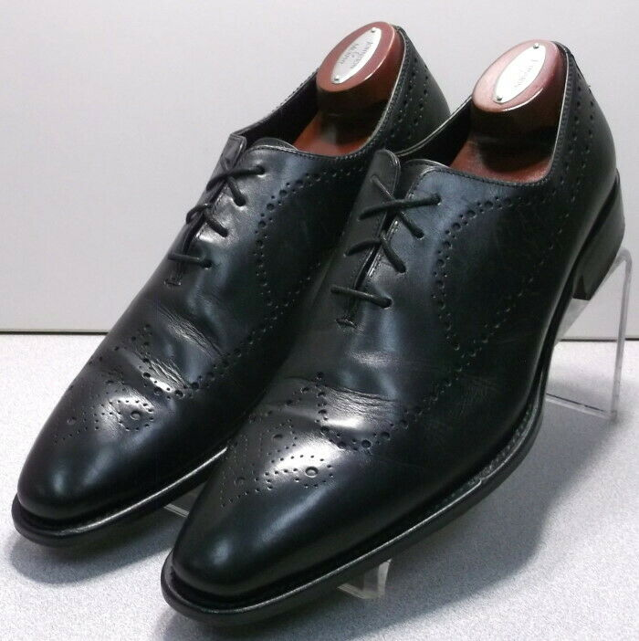242717 PFi60 Men's Shoes Size 13 M Black Leather Made in Italy Johnston Murphy