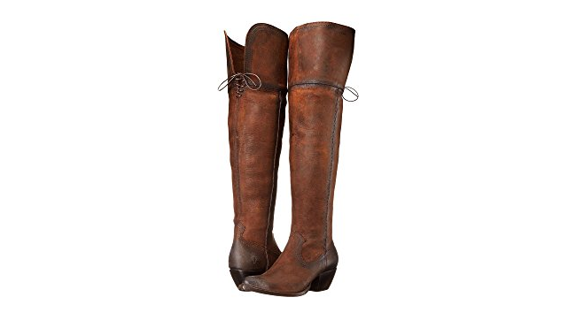 New in Box FRYE Donna Sacha Over The Knee Western Boot Cognac 6 M