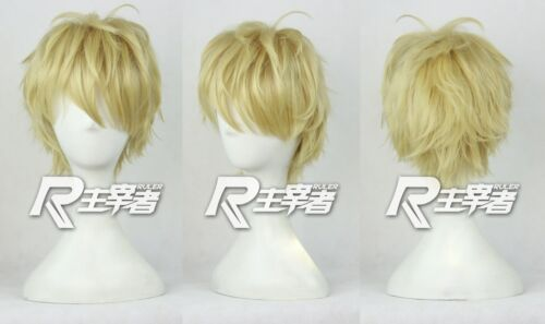 Track NO One Punch Man Genos Costume Anime Cosplay Wig Free Cap