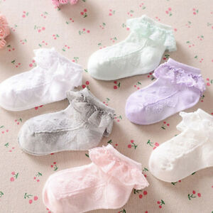 Baby-Girls-Flower-Lace-Ankle-Short-Socks-Newborn-Infant-Toddlers-Cotton-Socks-AU