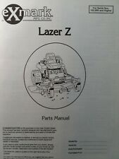 Exmark Lazer Z Zero Turn Commercial Riding Lawn Mower Parts Manual 60 102000 Up