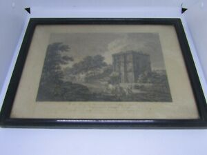 Old-antique-print-engraving-of-Wetherall-Priory-Cumbria