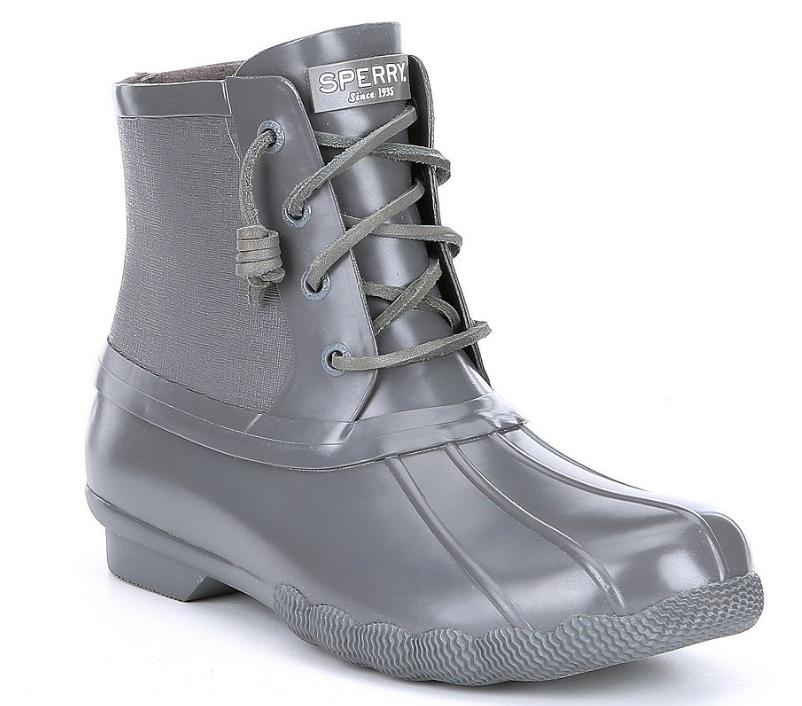 Sperry Sperry Sperry De Mujer Botines De Lluvia De Goma De Agua Salada inundado de Pato botas gris Oscuro  ofreciendo 100%