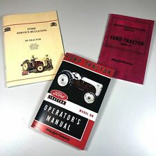 FORD 8N TRACTOR OPERATORS OWNERS MANUAL INCLUDES SERVICE INFO BULLETINS LOG BOOK