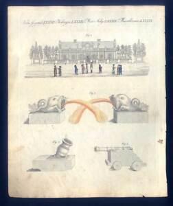 St. Petersburg - Eispalast auf der Newa - Bertuch-Kupferstich 1800