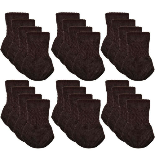 24Pcs Furniture Table Chair Foot Leg Knit Socks Cover Pads Floor Protector5.0 a