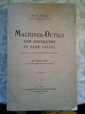 Machines-outils, leur construction et leur calcul, Hülle, Blanchard 1926