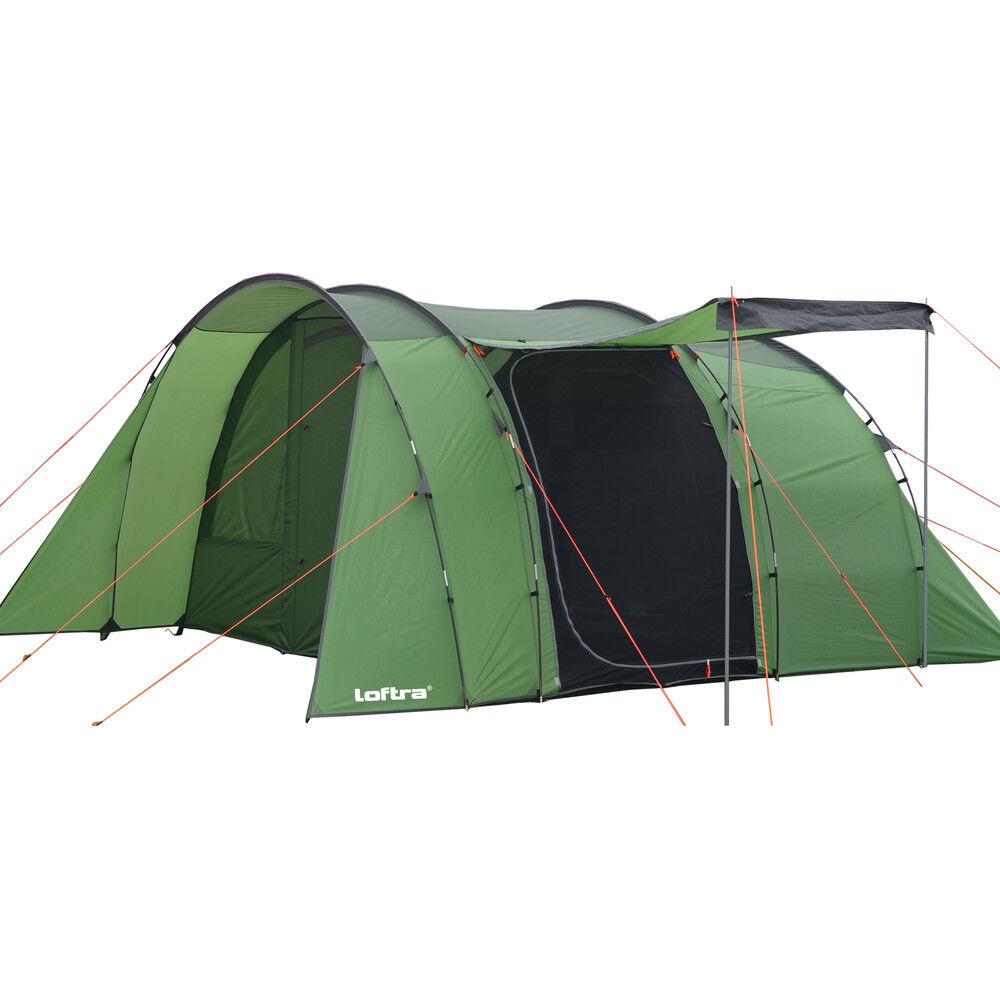 Tunnelzelt Familienzelt MADERA 5 Personen Zelt eingenähter Boden 3000mm Explorer