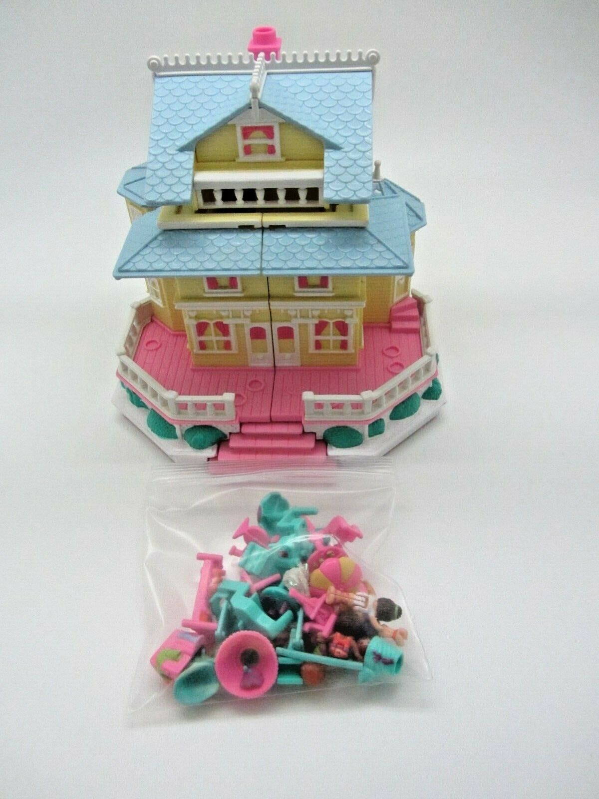 POLLY POCKET 1995 Vereinhaus Pop up Party Play haus   100% Complete