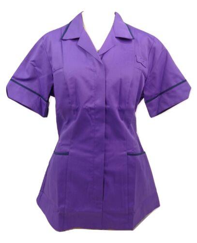 Alexandra HF561 Purple//Navy Ladies Nurses Care Assistant Uniform Tunic B5 XT7