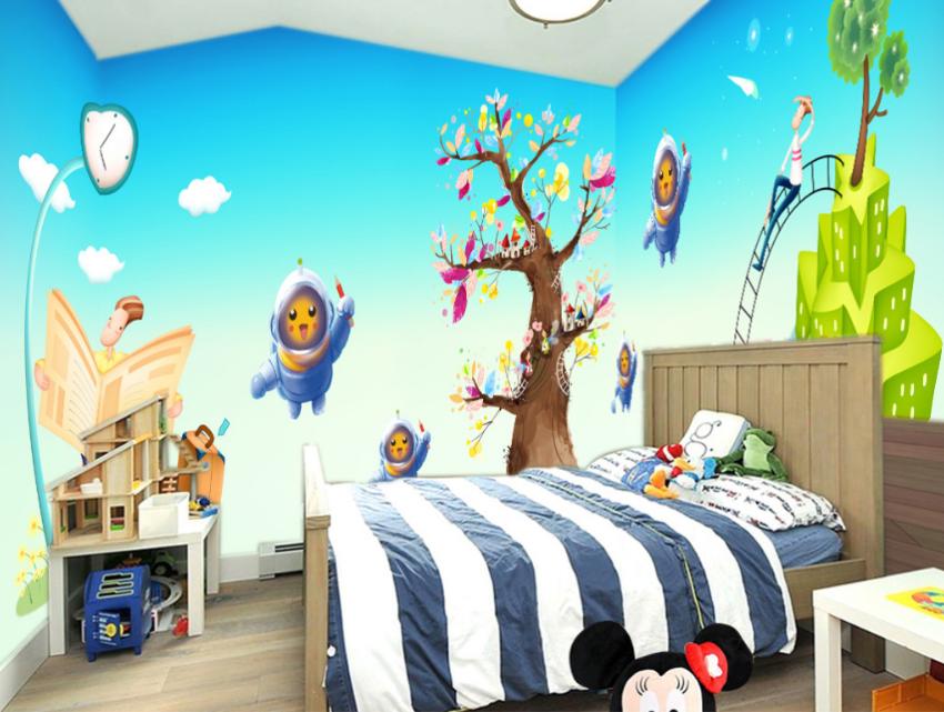 3D Spielplatz-Astronaut 753 Tapete Wandgemälde Tapete Tapeten Bild Familie DE