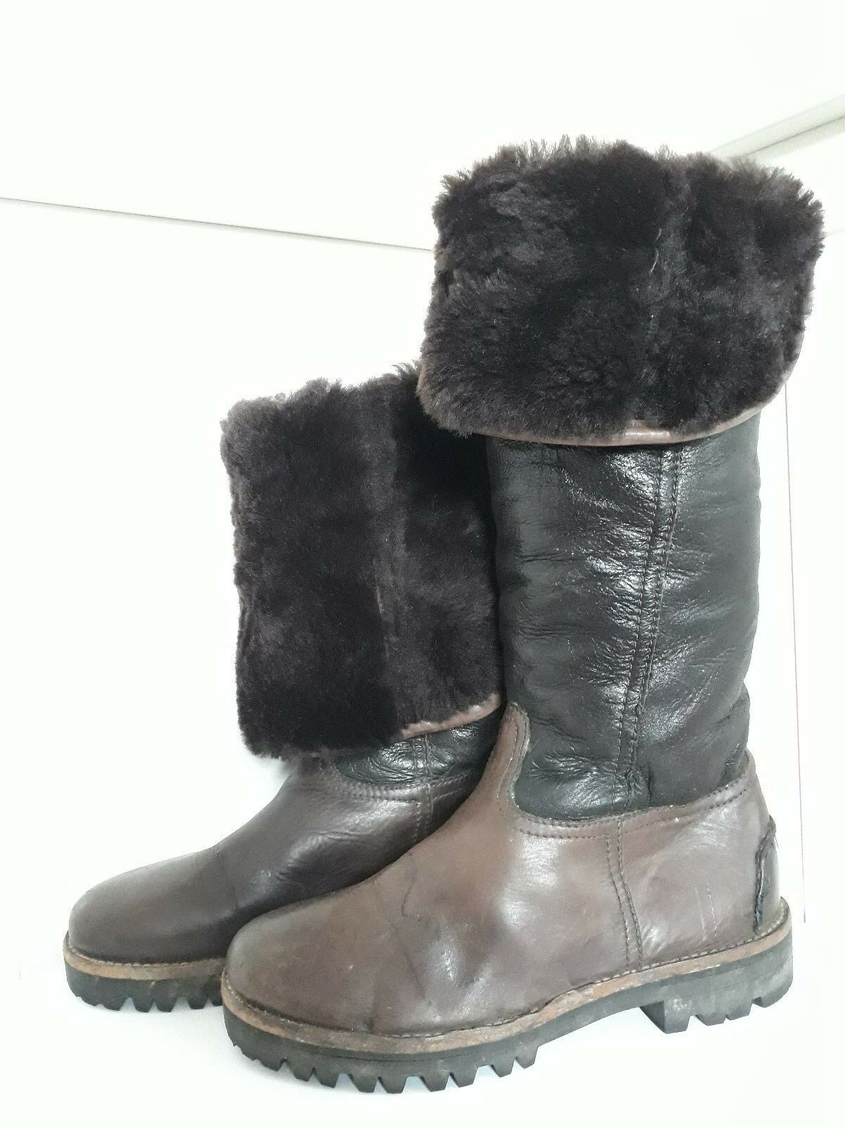 Genuine 3 in 1 Kennel & Schmenger Winter Boots Size 3   36 Real Leather & Wool