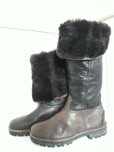3 1 Schmenger Real Genuine amp; Wool Size Leather Boots 36 Winter Kennel In 1ZqWUOwp