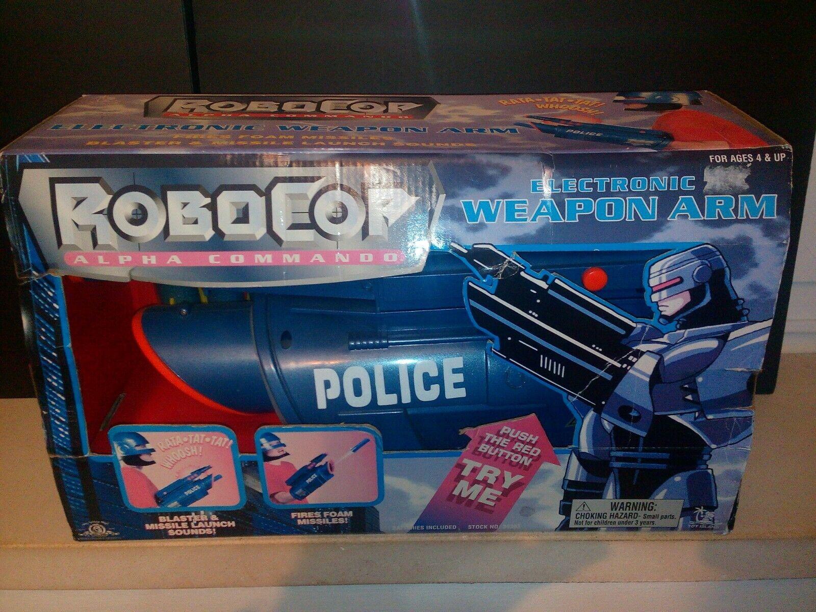 Robocop Alfa Commando Juguete Island electrónica arma brazo Rara Vintage
