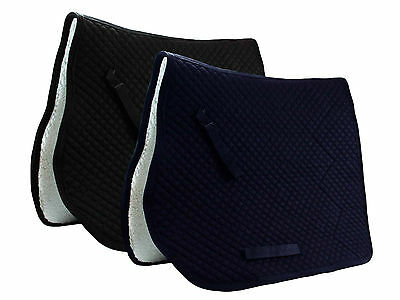 Dressage Saddle Pad with Fleece Lining by Derby Originals