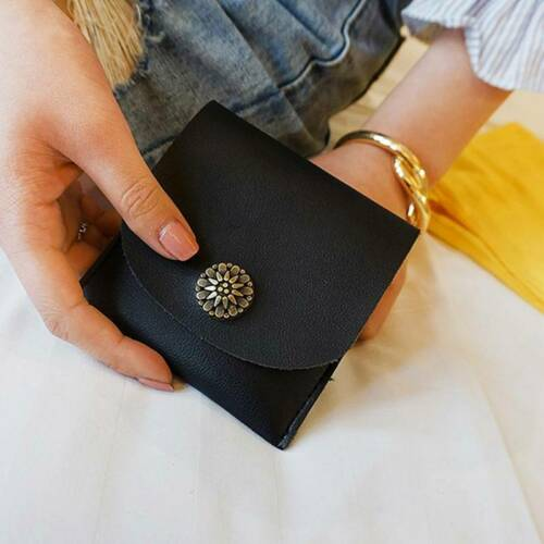 Fashion Purse PU Leather Money Short Usual Small Gift Common Pocket Wallet FM