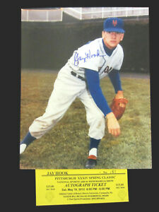 Signed-8x10-photo-Jay-Hook-original-1962-NY-Mets-first-ever-winning-pitcher