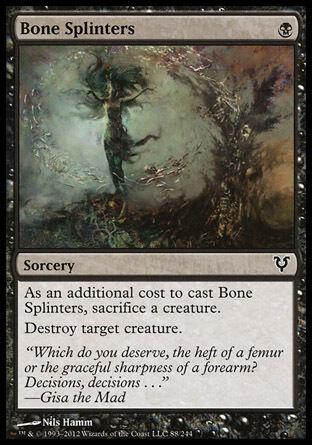 4x Bone Splinters Avacyn Restored MtG Magic Black Common 4 x4 Card Cards
