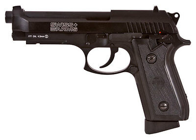 Swiss Arms P92 CO2 Pistol Blowback 20rd BB Mag - 0.177 cal