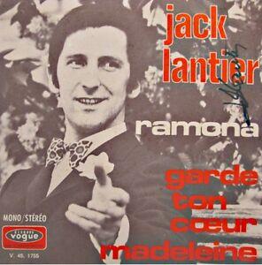 JACK-LANTIER-ramona-garde-ton-coeur-madeleine-DEDICACE-SP-1970-VOGUE-VG