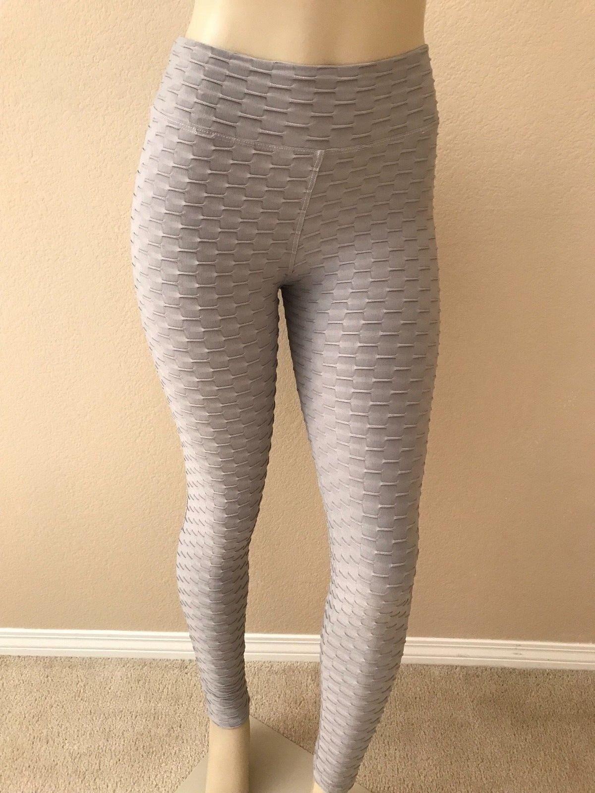Yoga workout leggings- Brazilian High Waisted Texture Leggings