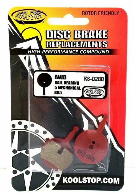 KOOL-STOP KS-D280 ORGANIC COMPOUND BICYCLE DISC BRAKE PADS FOR AVID BB5