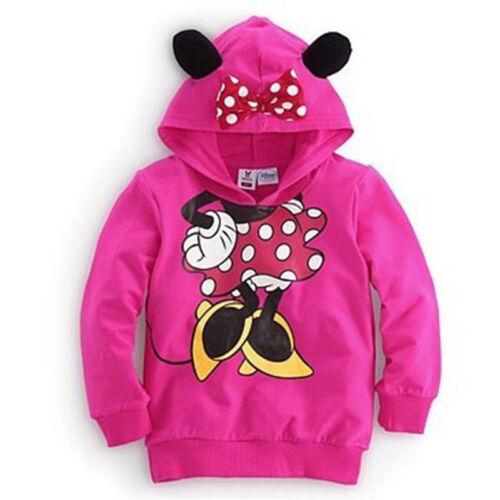 Kids Girls Boys Cartoon Mickey Minnie Mouse Hoodies Sweatshirt Pullover Outfits