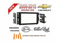2006-2015 Chevrolet Impala Equinox Traverse 2 Din Car Stereo Install Dash Kit