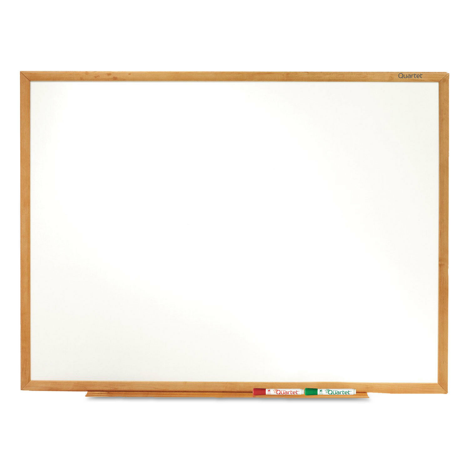 Quartet Classic Melamine Whiteboard 72 x 48 Oak Finish Frame S577