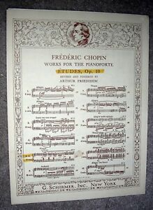 Details about 1916 FREDERIC CHOPIN ETUDES Op  10 in Gb Major Sheet Music  PIANO SOLO