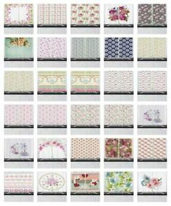 Shabby Chic Kitchen Curtains 2 Panel