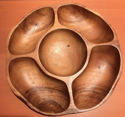 * Vintage * Monkey Pod Wood * Holzschale * Wooden Tray * Philippines Philippinen Das Ganze System StäRken Und StäRken