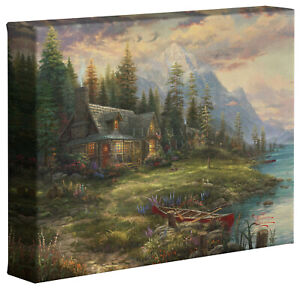 Thomas-Kinkade-Studios-A-Father-039-s-Perfect-Day-8-x-10-Gallery-Wrapped-Canvas