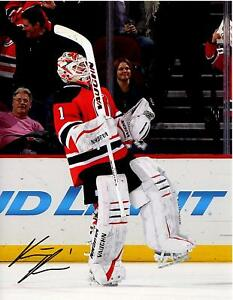 designer fashion e4a47 323b8 Details about Keith Kinkaid autographed signed 8x10 photo NHL New Jersey  Devils