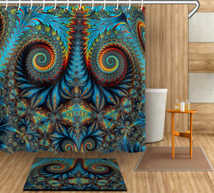 Image Is Loading New Mandala Shower Curtain Mildew Bathroom Waterproof Fabric
