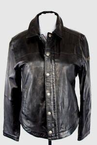 detailed look super quality so cheap Details zu CAMP DAVID Lederjacke Bikerjacke Leder Leather Jacket schwarz Gr  M 50 NEU HA58
