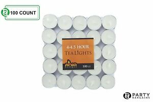 Tea-Lights-White-Decorative-Candles-Unscented-Candle-Long-Lasting-Pack-of-100