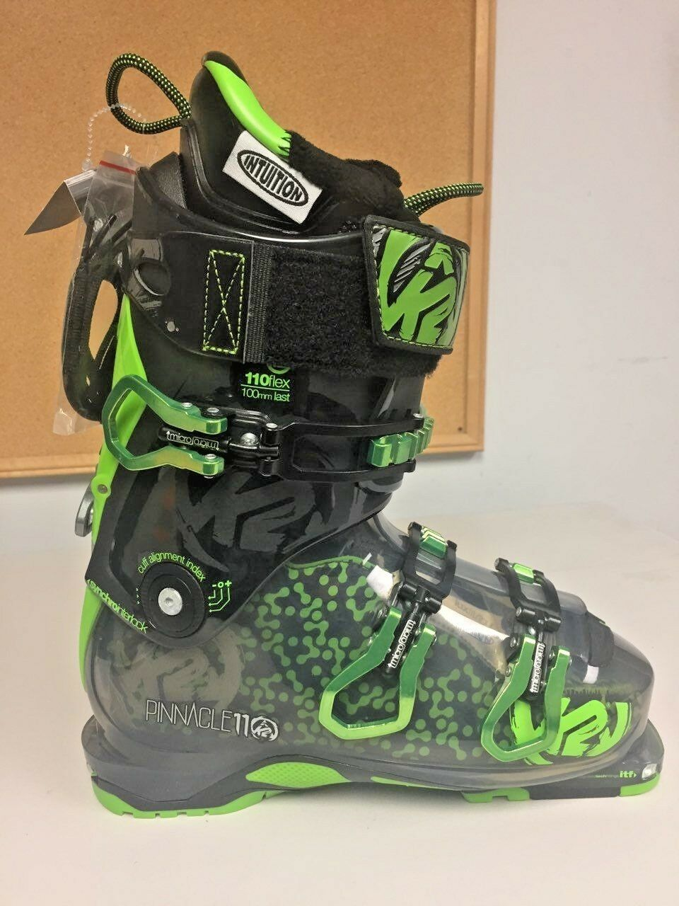 NEW K2 Pinnacle 110 Flex Ski Boots Size 25.5