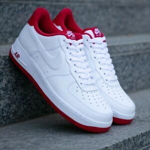 Details about Nike Air Force 1 Low Sneakers Men's Lifestyle Comfy Shoes  White/University Red