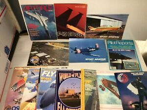 Vintage-Aviation-Aeronautical-Flight-Airshow-70s-80s-Magazine-Lot-of-14