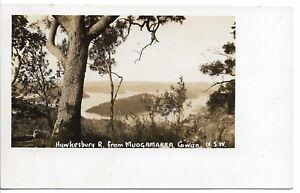 HAWKESBURY RIVER FROM MUDGAMURRA COWAN  NSW PHOTO POSTCARD