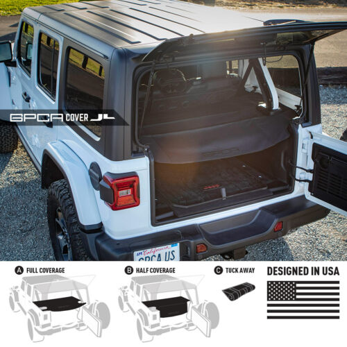 Cargo Cover for SoftTop GPCA Jeep Wrangler 2018 JL Unlimited 4Dr