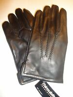 Men's Thinsulate Genuine Leather Gloves, L, Black