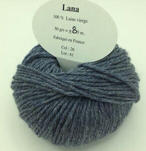 fabriqué en France 5 pelotes 100 /% pure laine couleur bleu 15