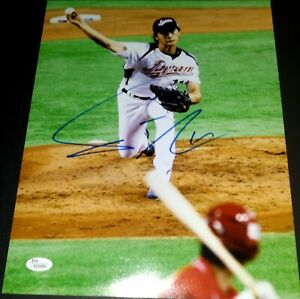 Yu-Darvish-Japan-WBC-SIGNED-11x14-Photo-Chicago-Cubs-Rangers-JSA-Authenticated