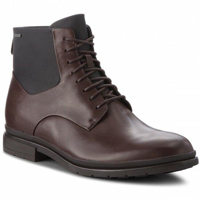 Clarks BNIB Mens Hi Dress Boots LONDON PACE GTX Brown Leather UK 7.5 / 41.5