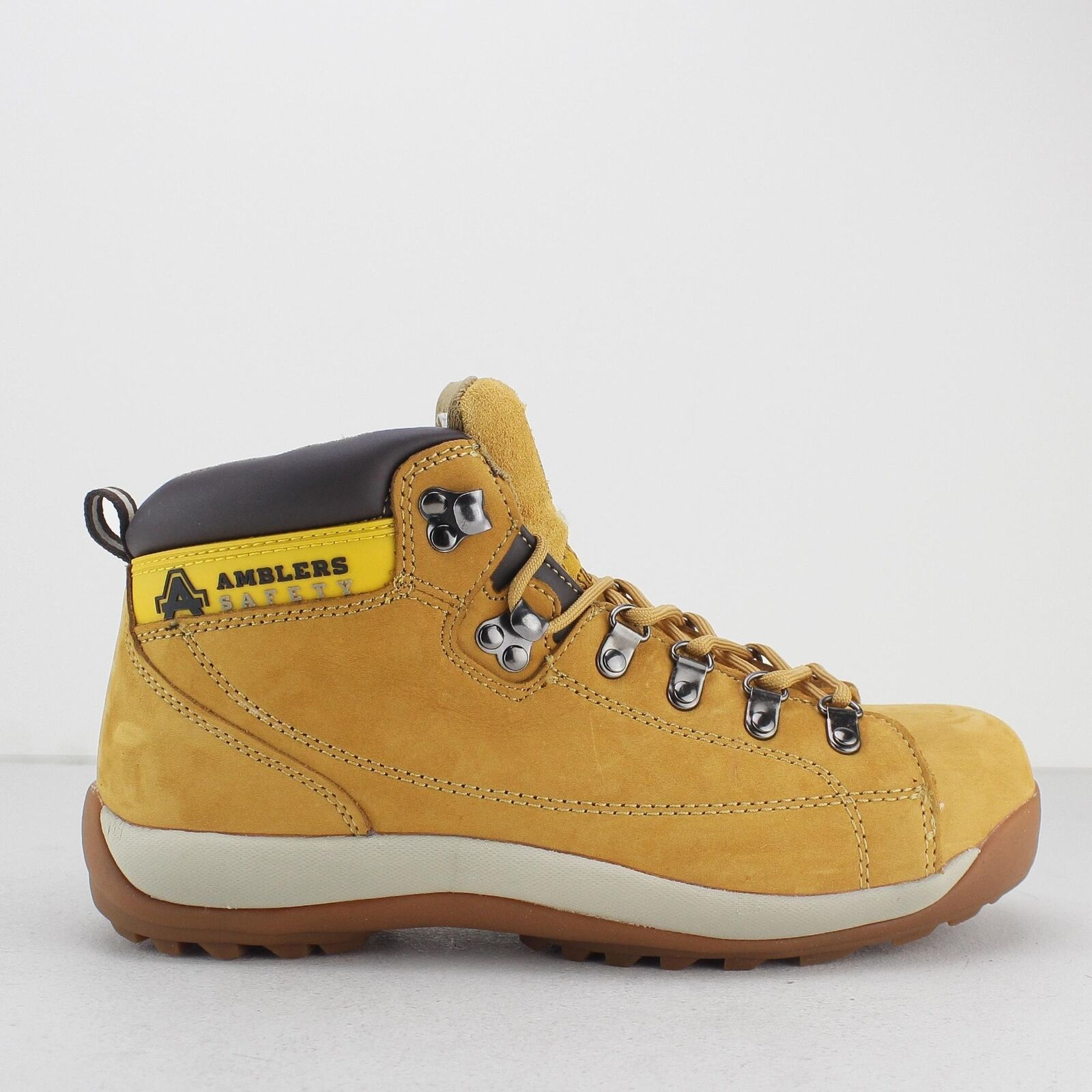 Amblers Safety FS122 Unisex Mens Ladies Womens Steel Toe SB Safety Boots Honey