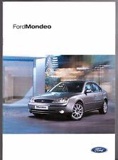 FORD Mondeo 2002-03 UK Opuscolo Vendite sul mercato st220 GHIA x Zetec S LX