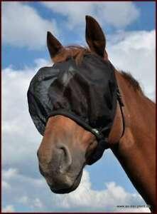 AS-Fliegenmaske-Fliegenschutzhaube-Sausewind-Comfort-ohne-Ohren-schw-S-Pony